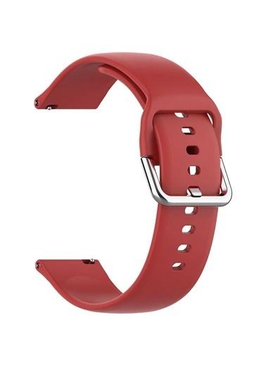 Microsonic Samsung Galaxy Watch Active 2 Silikon Kordon Kırmızı Kırmızı